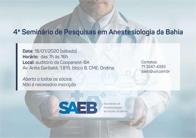 4o Seminário de Pesquisas em Anestesiologia da Bahia