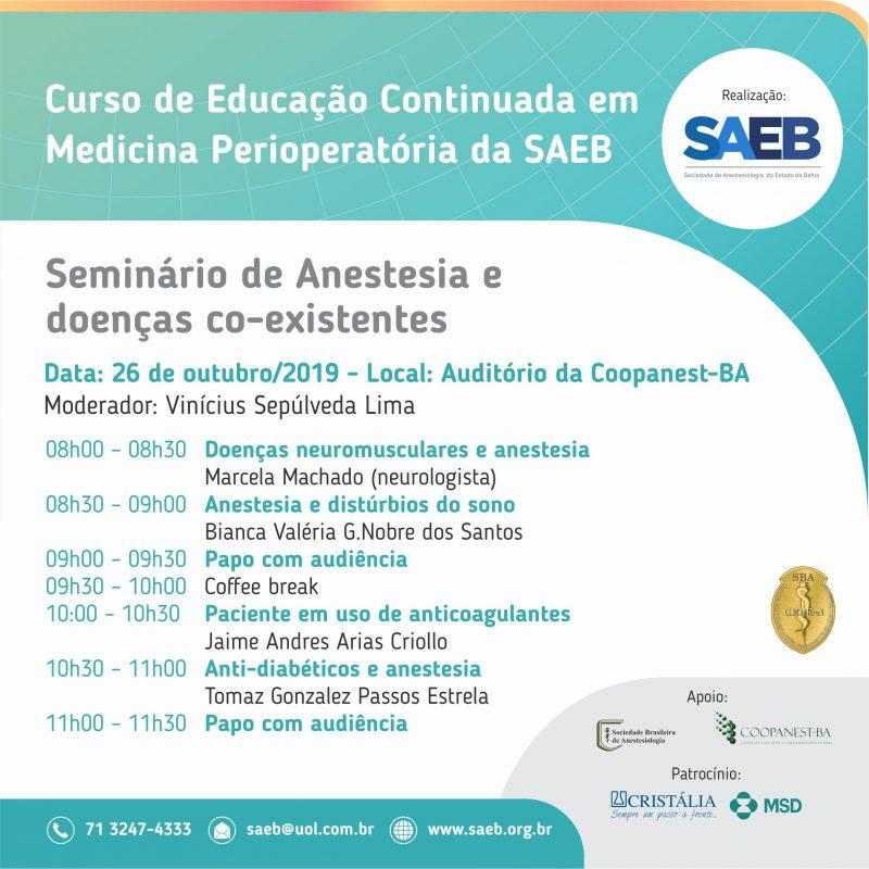 Seminário de Anestesia e doenças co-existentes