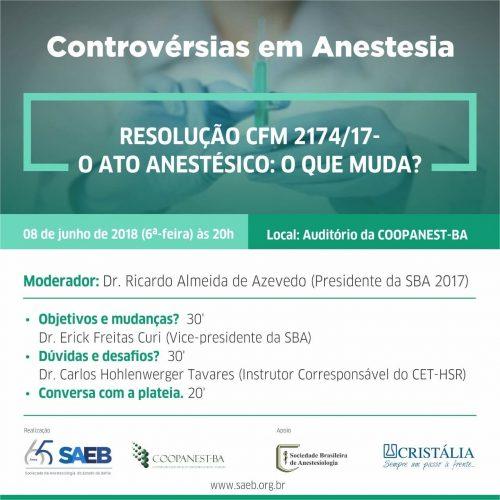 Sessão Controvérsias em Anestesia